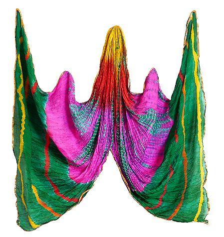 Crushed Multicolor Chiffon Dupatta