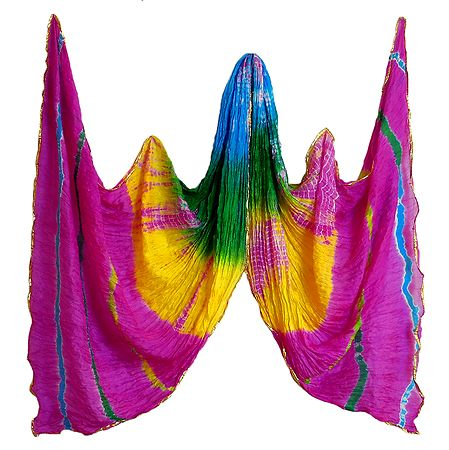 Crushed Multicolor Chiffon Dupatta