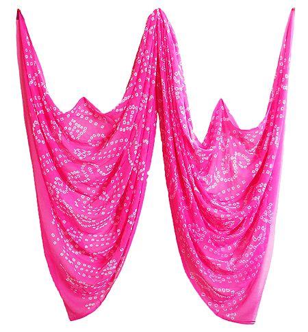 Pink Tie and Dye Chiffon Chunni