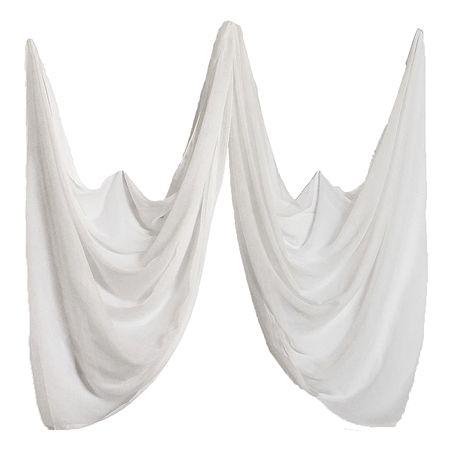 White Synthetic Dupatta