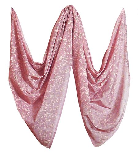 Onion Skin Color Synthetic Dupatta