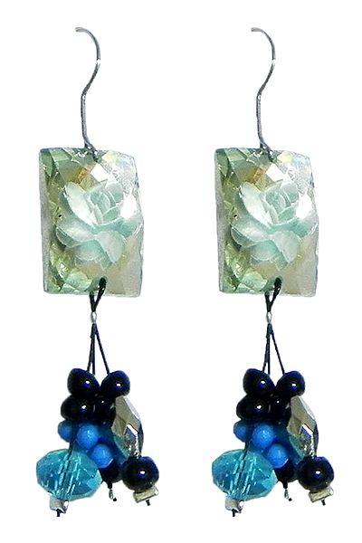 Fancy Blue Acrylic Earrings