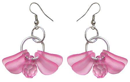 Acrylic Pink Butterfly Earrings