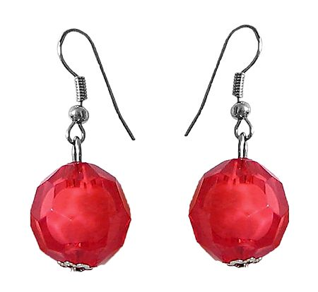 Red Acrylic Earrings