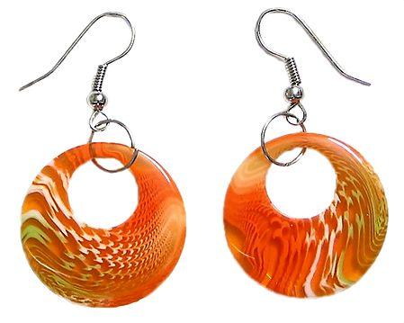 Saffron Acrylic Hoop Earrings
