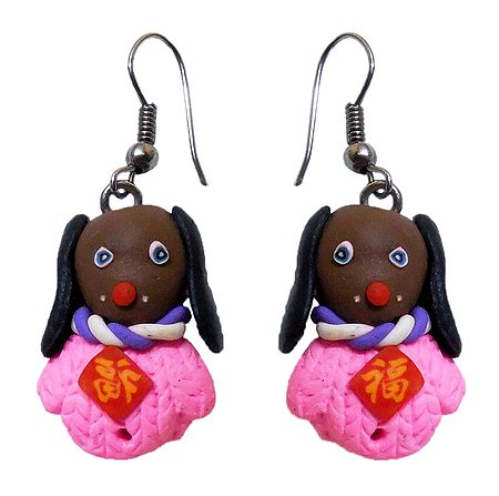 Pair of Rubber Doggy Earrings