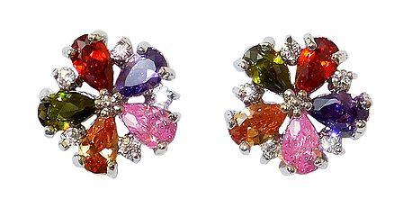 Stone Studded Stud Earrings