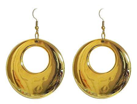 Golden Acrylic Hoop Earrings