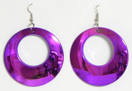 Dark Mauve Acrylic Hoop Earrings