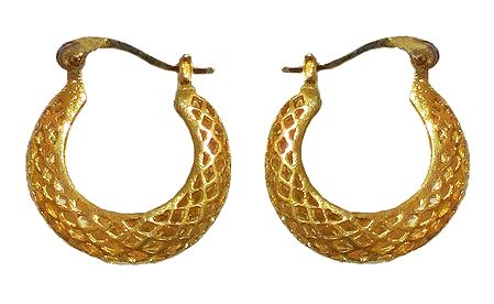 Gold Plated Hoop Earrings