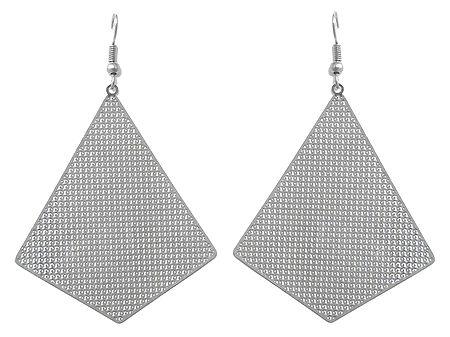 Metal Dangle Earrings with Fish Hook