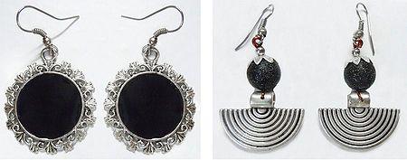 Set of 2 Pairs Dangle Earrings