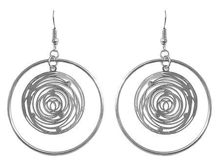 Metal Hoop Earrings with Fish Hook