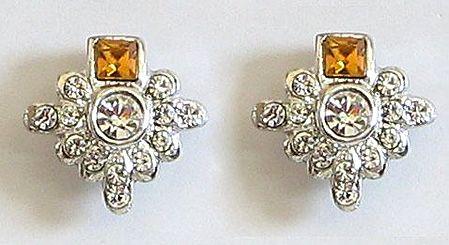 White Stone Studded Earrings