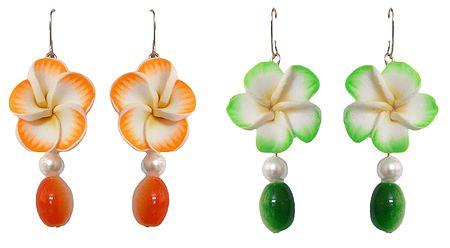 Set of 2 Pairs Floral Earrings