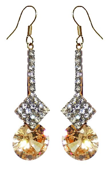 White Stone Studded Earring