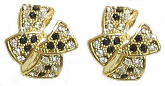 Black and White Stone Studded Designer Earring