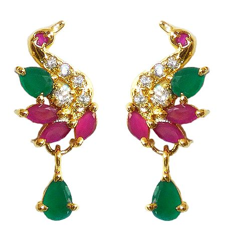 Multicolor Stone Studded Earrings