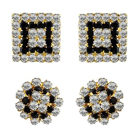 2 Pairs of Stud Earrings