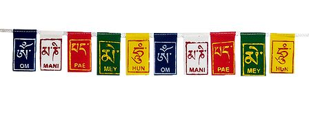 Multicolor Buddhist Prayer Flags for Bike
