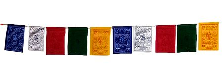 Multicolor Buddhist Prayer Flags for Car