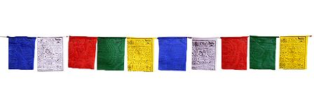 Multicolor Buddhist Prayer Flags