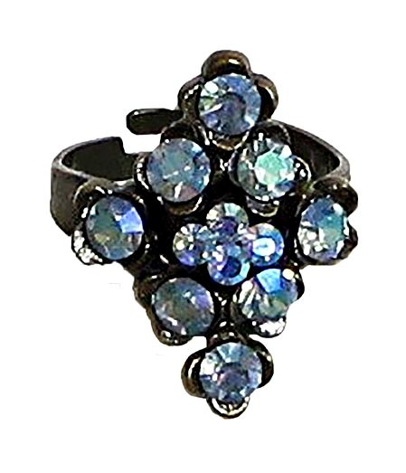 Blue Stone Studded Adjustable Ring