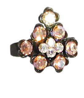 Light Peach Stone Studded Adjustable Ring