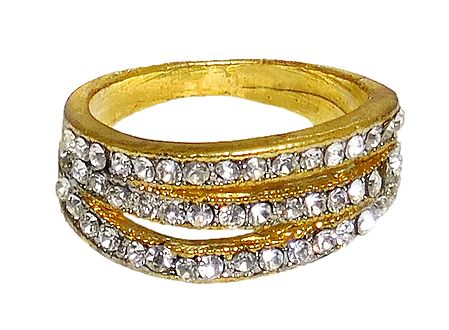 White Stone Studded Ring