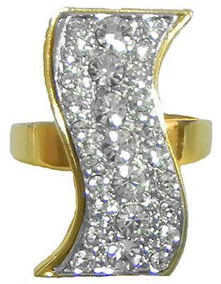 White Stone Studded Adjustable Ring