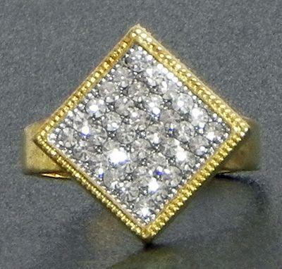 Faux Zirconia Adjustable Ring