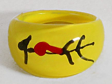 Yellow Acrylic Ring