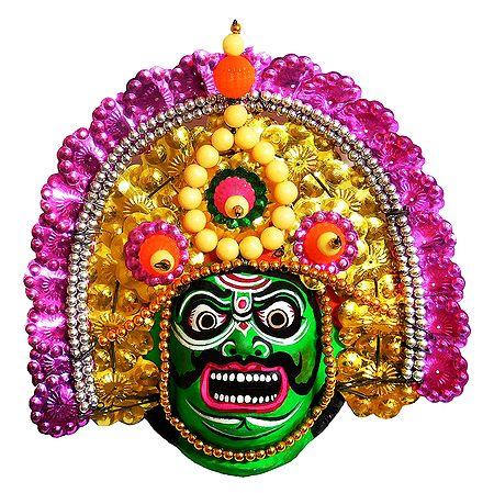 Bhima Chhau Dance Mask - Unframed Photo Print on Paper