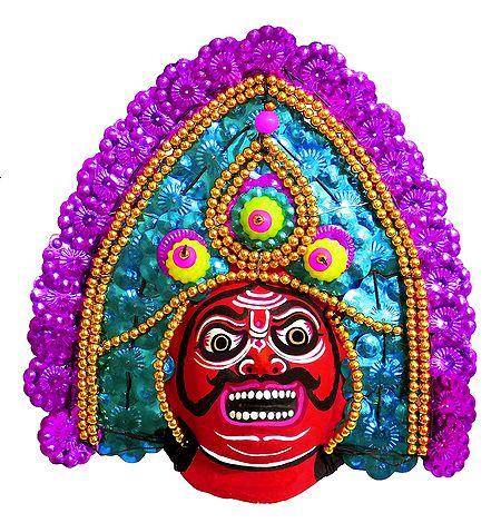 Chhau Dance Face - Unframed Photo Print on Paper
