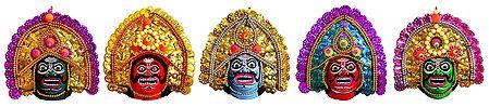 Chhau Dance Masks - Unframed Photo Print on Paper