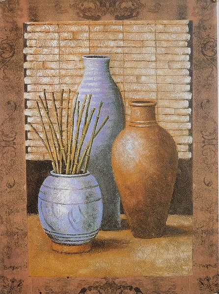 Bamboo Sticks in a Vase