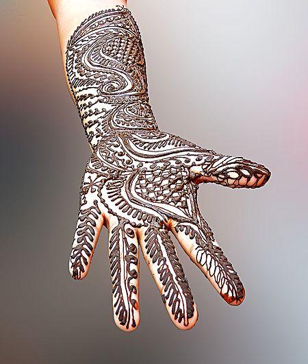 Mehendi Art - Unframed Photo Print on Paper