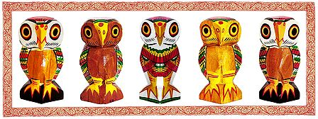 Colorful Owls - Unframed Photo Print on Paper