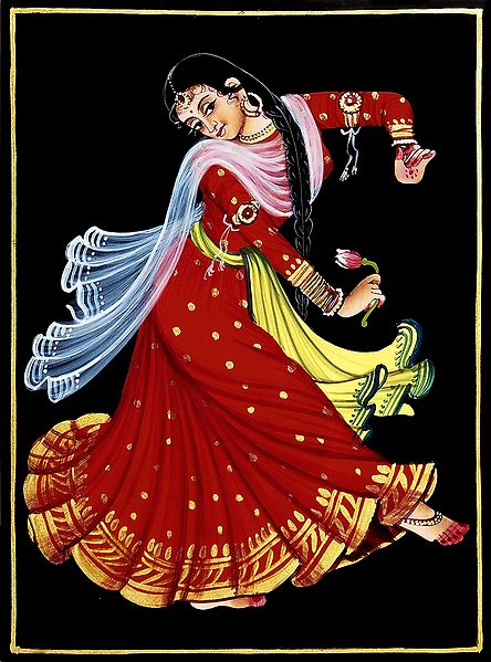 Kamal Dancer - Nirmal Painting on Wood