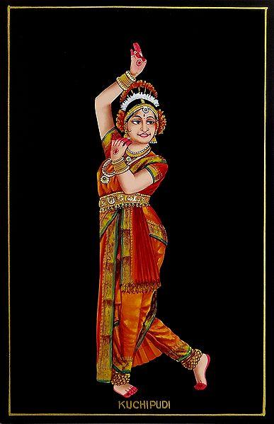 Kuchipudi Dancer - Nirmal Painting on Wood