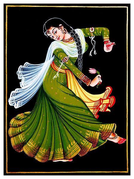 Kamal Dancer - Nirmal Painting on Wood