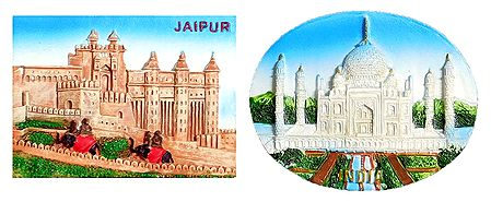 Amber Palace and Taj Mahal - Set of 2 Magnet
