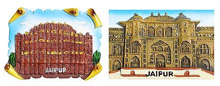 Hawa Mahal and City Palace - Set of 2 Magnet