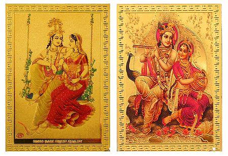 Radha Krishna - Set of 2 Magnets