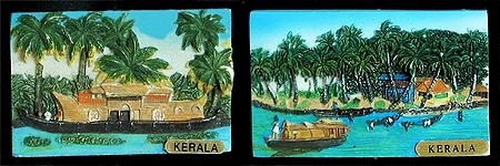 Landscape of Kerala - Set of Two Magnets