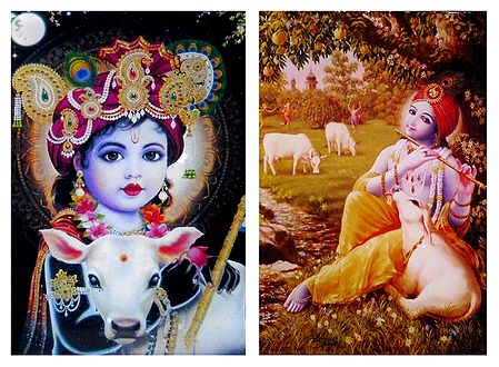 Bal Gopal and Young Krishna - Set of 2 Magnets