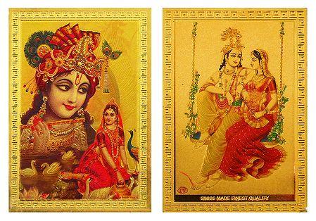 Radha Krishna - Set of 2 Metal Magnets