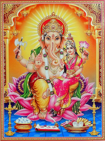 Ganesha with Riddhi