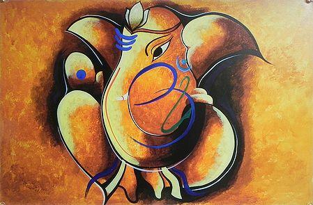 Artistic Lord Ganesha with Om