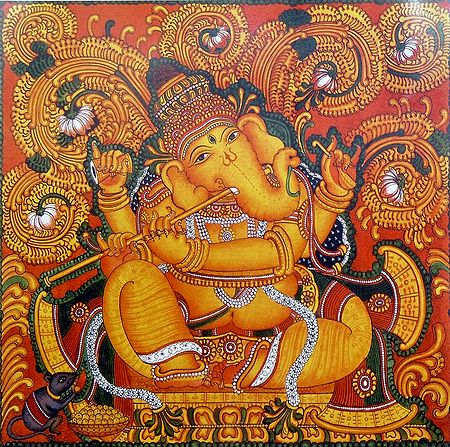 Ganesha Playing the Flute